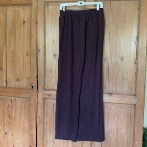 Bryn Walker wide legged pants M deep brown